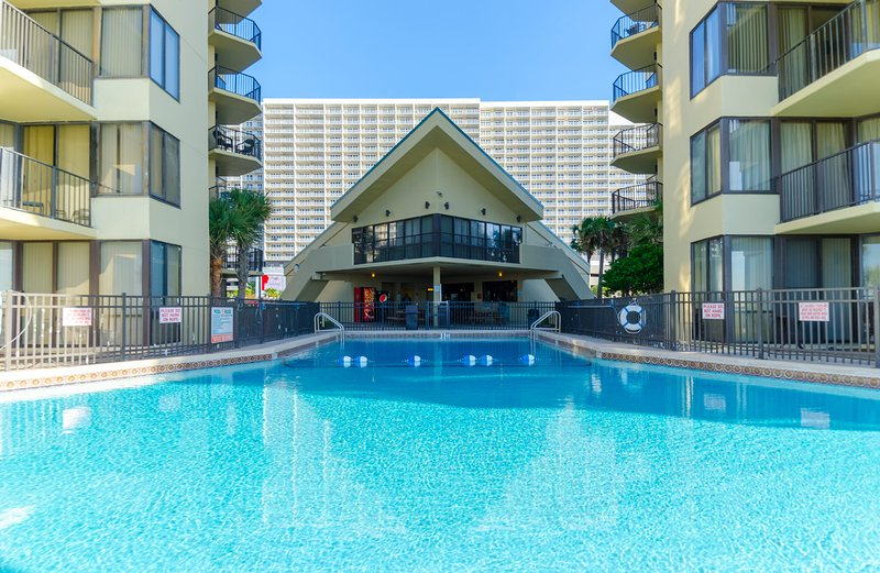 The Clubhouse overlooks the center pool.  Free Wifi in the clubhouse.