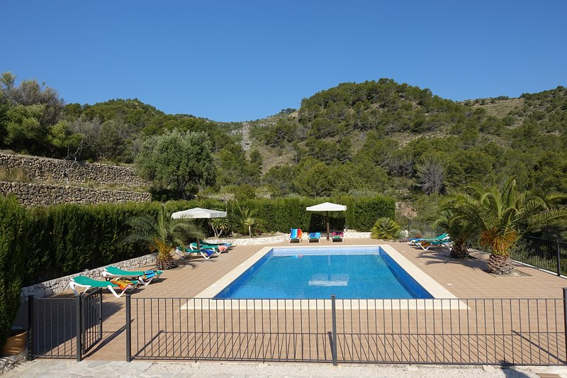 The swimming pool and surroundings. 12 * 6 meters and from 1 to 2 meters deep
