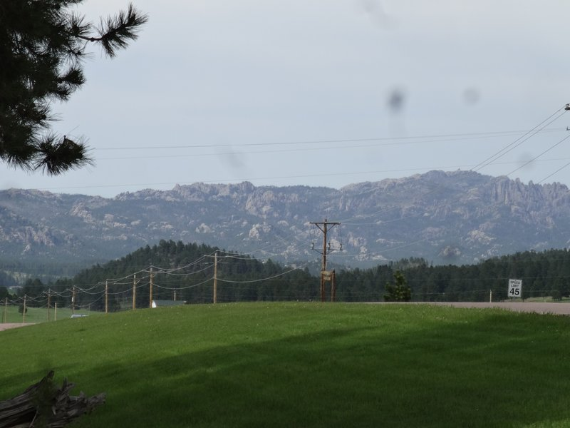 Cathedral Spires is your view from the cabin!