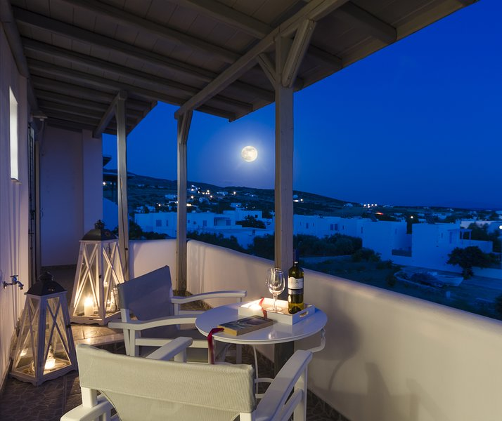 Enjoying full moon from the balcony with a glass of wine! Amazing view!!!