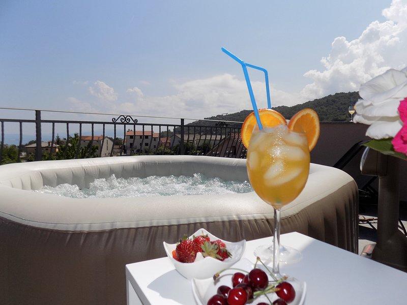 Luxury Penthouse Opatija in Matulji Jacuzzi, location de vacances à Matulji