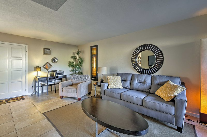 You're sure to admire the pristine furnishings of this El Chaparral condo.