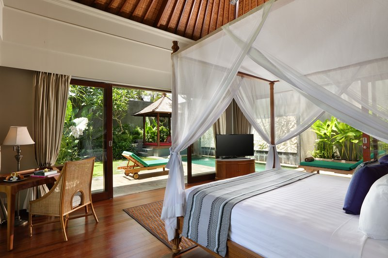 Bedroom facing Private Pool