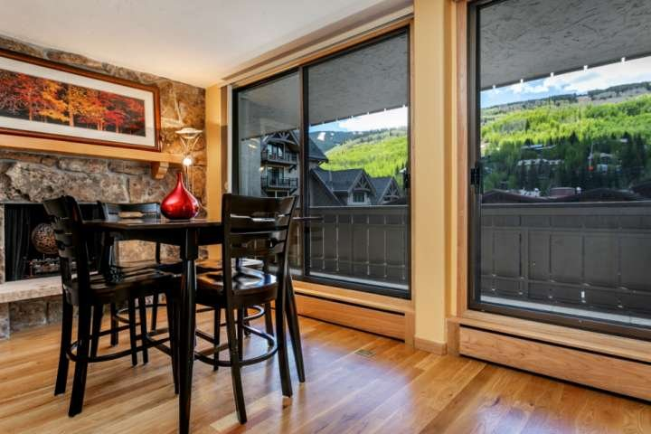 Take in the views at the dining table with seating for 4.
