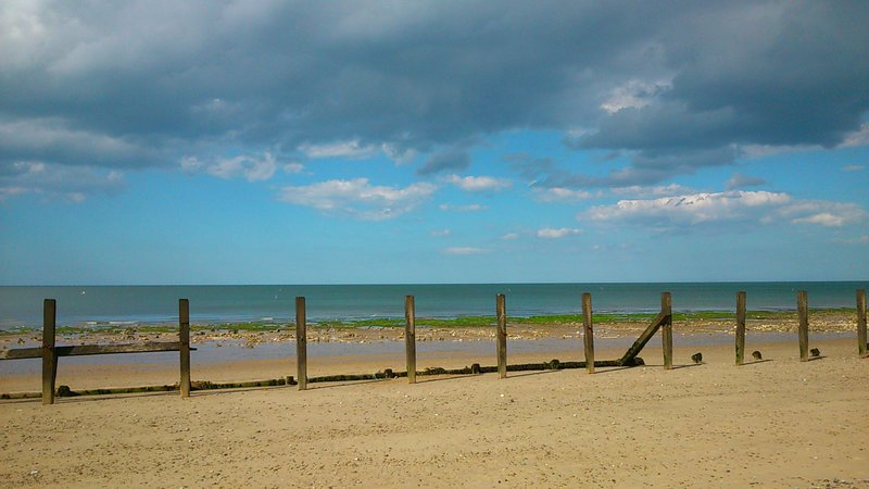 A 'moody' Beeston Regis beach
