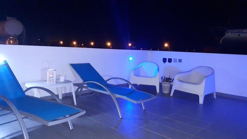 Private terrace. Relax while watching amazing sunsets.