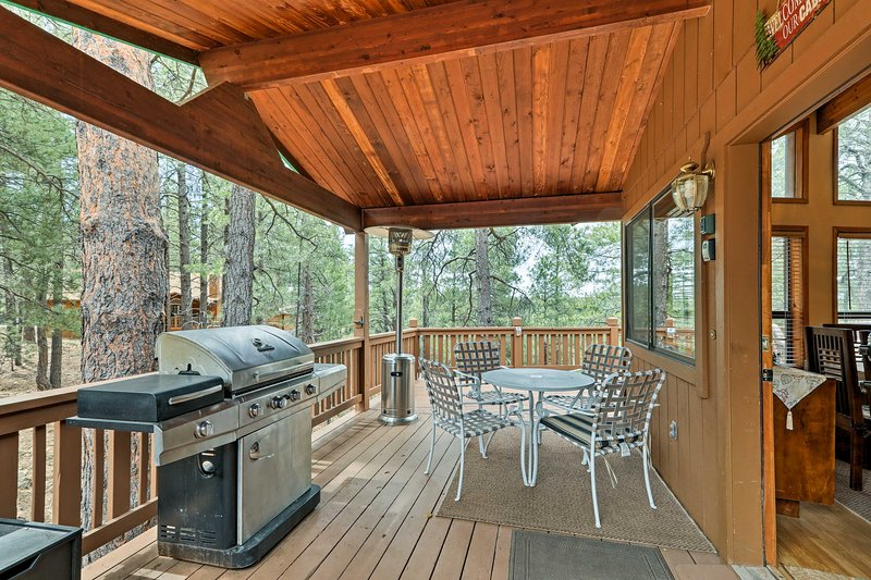 Be one with nature when you stay at this Flagstaff vacation rental cabin.