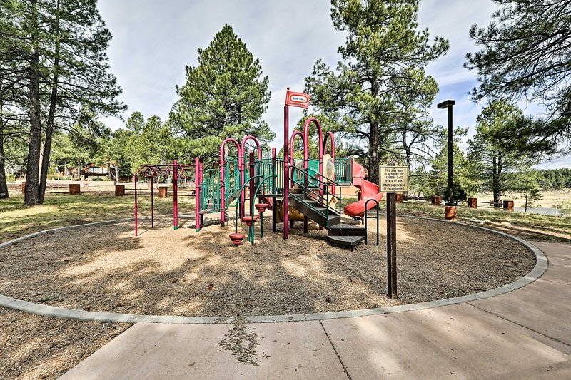 Let the kids expend their energy on the playground so they sleep soundly.