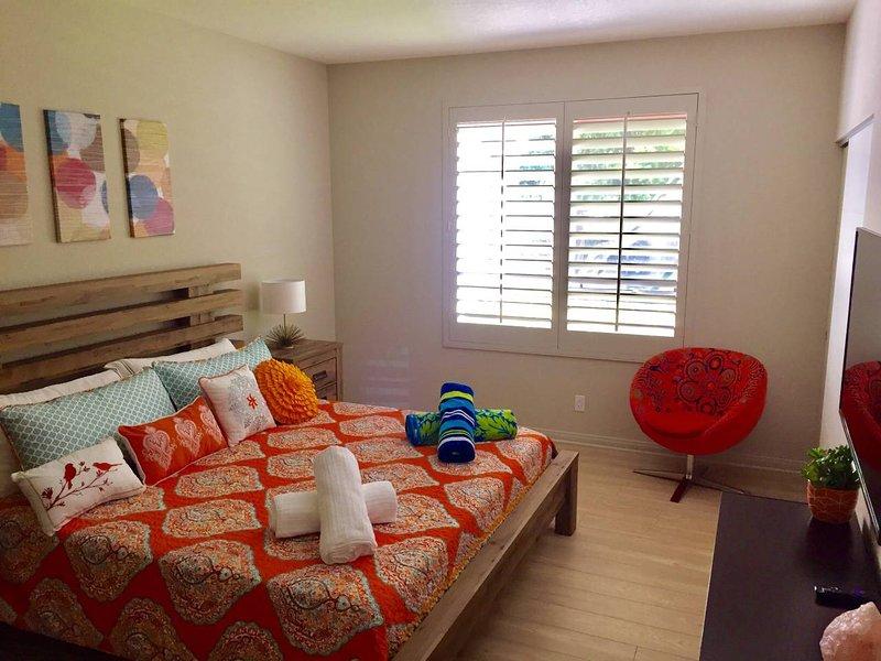 Bedroom # 1 with memory foam king mattress