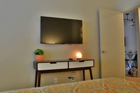 Bedroom 2 TV with Roku, Amazon Prime, and Netflix