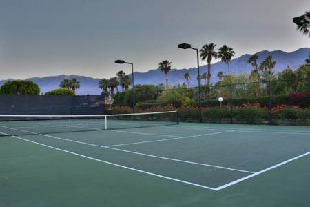 One of three tennis courts