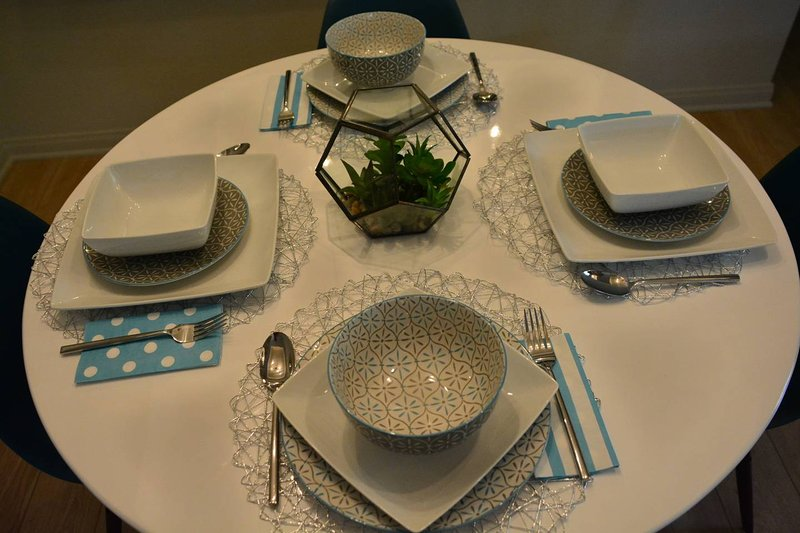 Seating and serving for four