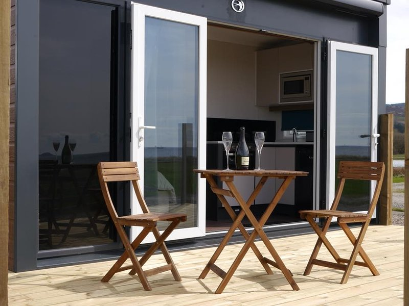 Celebrate on your own private decking with beautiful views