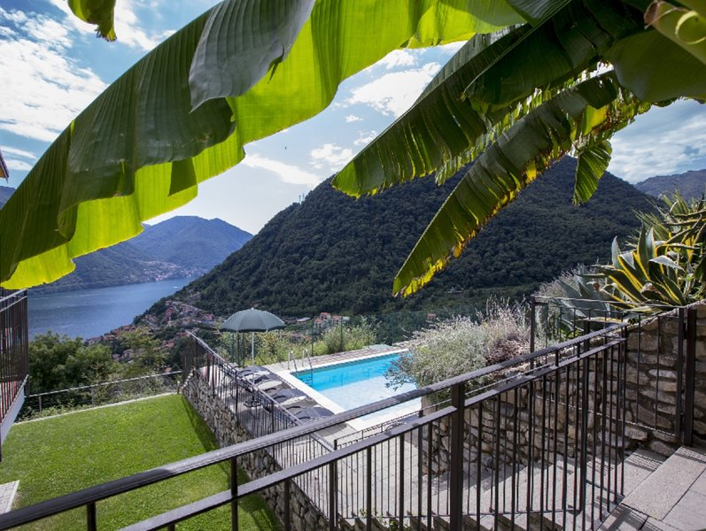 stunning views of lake and mountains from pool