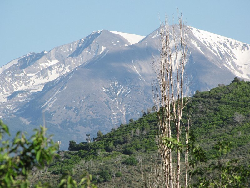 Mt Sopris from the living room deck