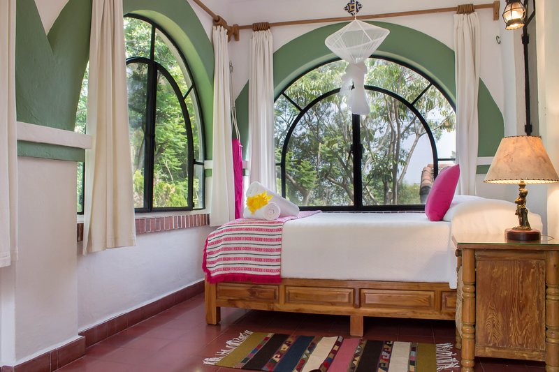 Bedroom with double bed and terrace / Bedroom with double bed and terrace.