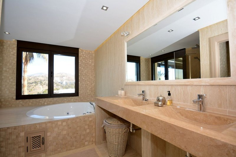 Master bathroom with Jacuzzi