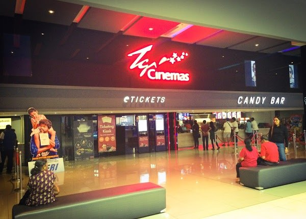 TGV is in Aeon Mall... its 2 mins walk away only.