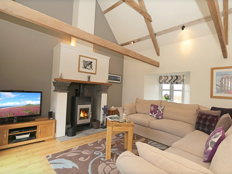 The lounge area has plenty of cosy seating for all the family
