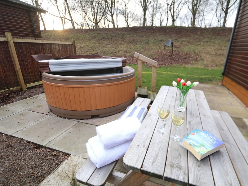 Enjoy relaxing in the hot tub
