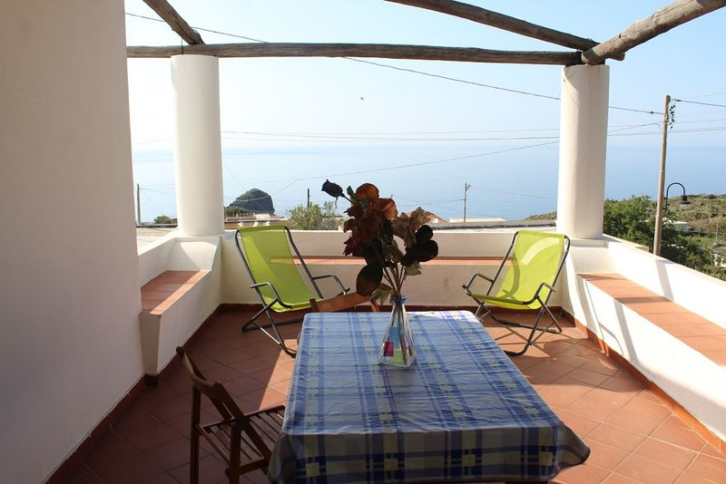 terrace equipped with sea view