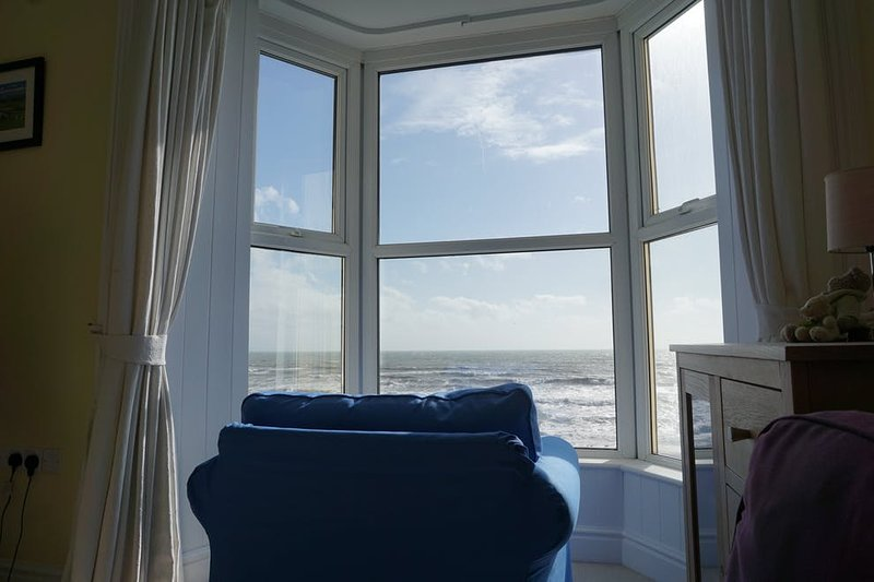 Lounge window view over Cardigan Bay