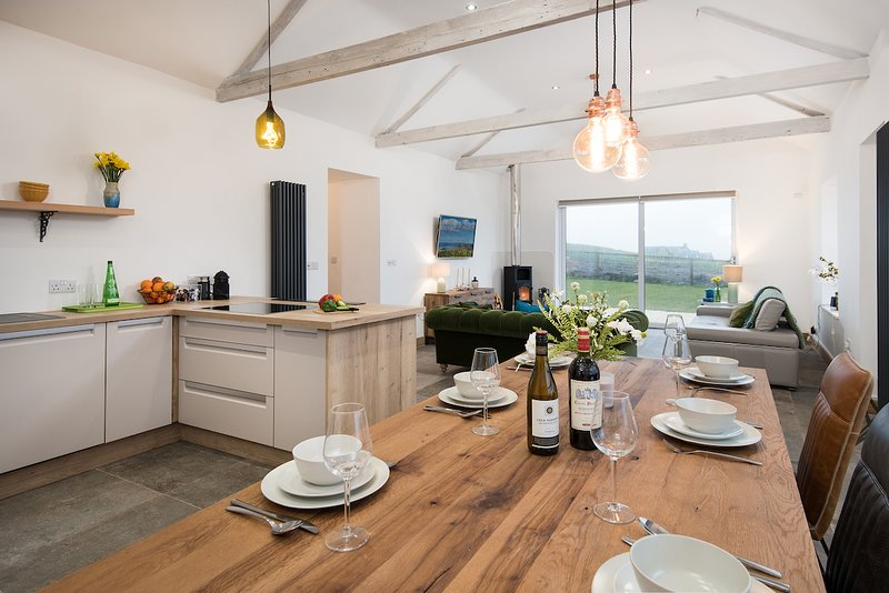 Light and bright open plan kitchen diner & lounge