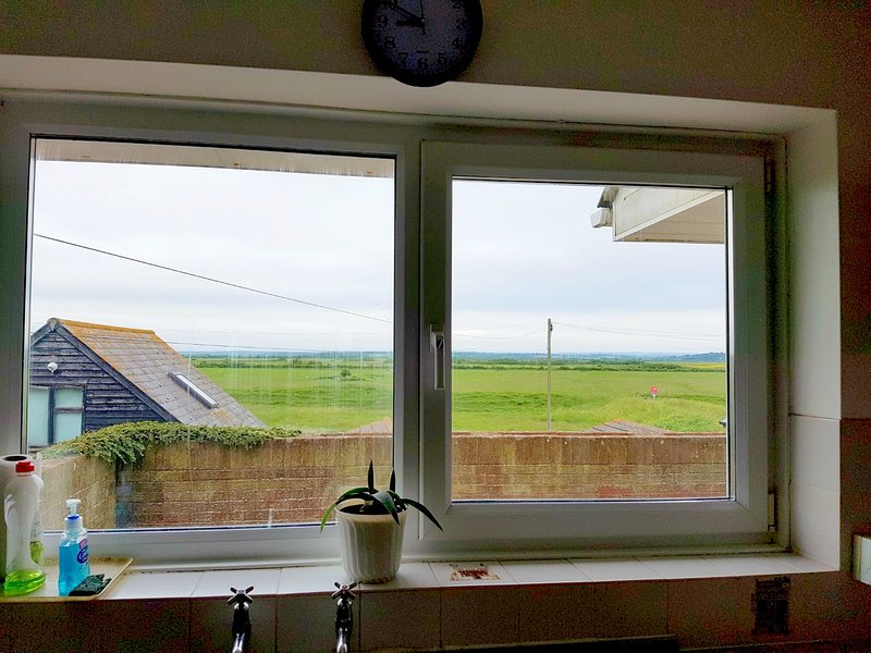 outlook from kitchen over farmland