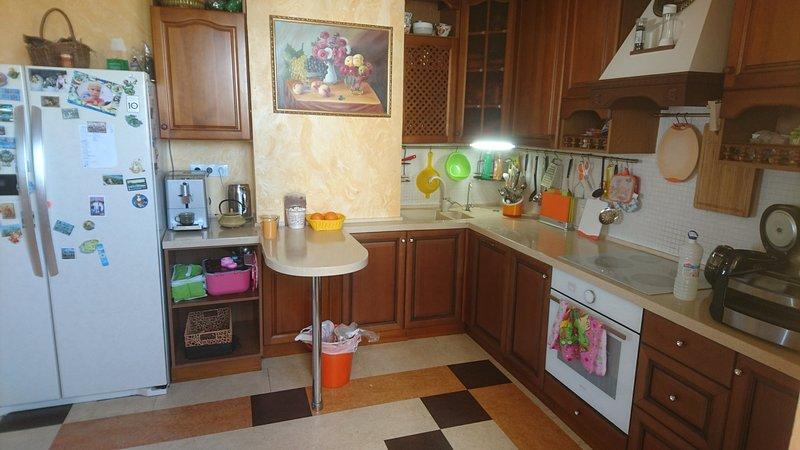 4 room apartment 110 m2,  kitchen, bathroom, toilet: max 8 guests, holiday rental in Dmitrovskoye