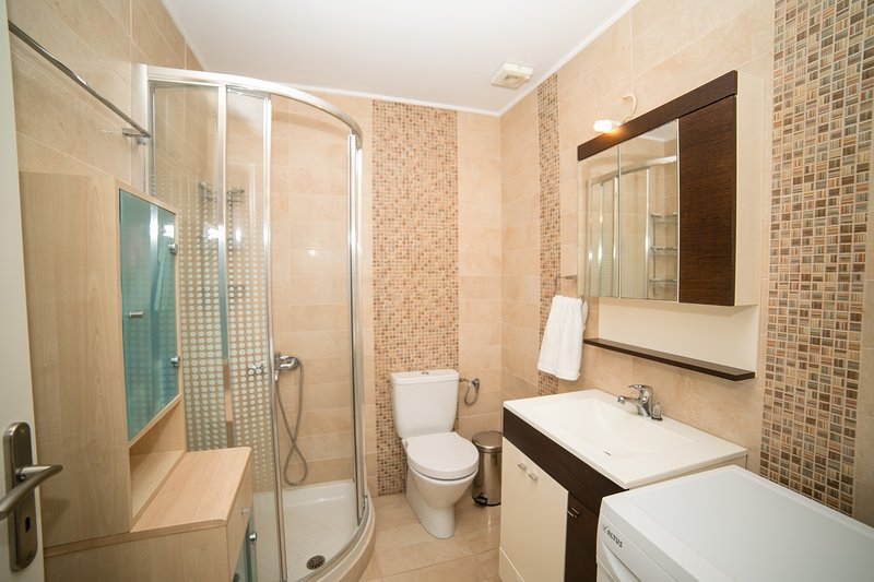 A second bathroom with shower cabin is also there to welcome you !
