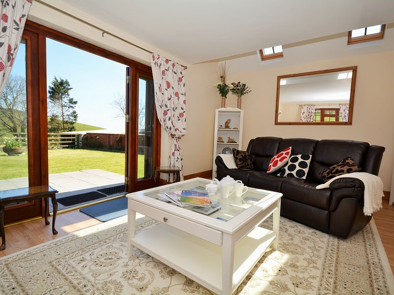 Lounge with patio doors out to garden