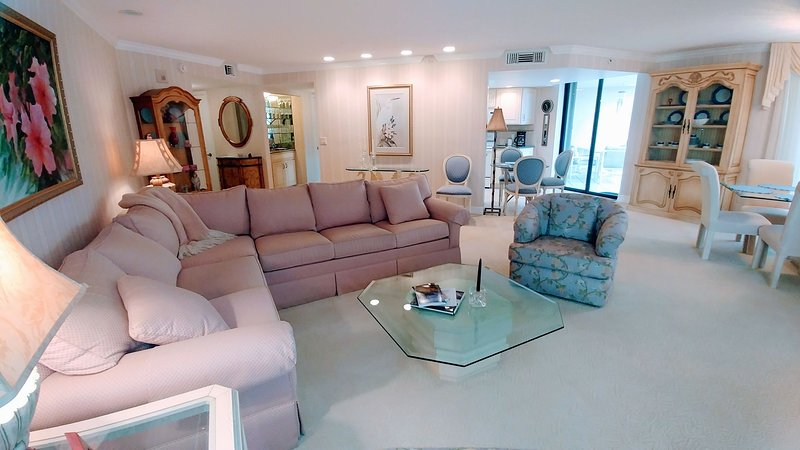 Large living room meant for entertaining