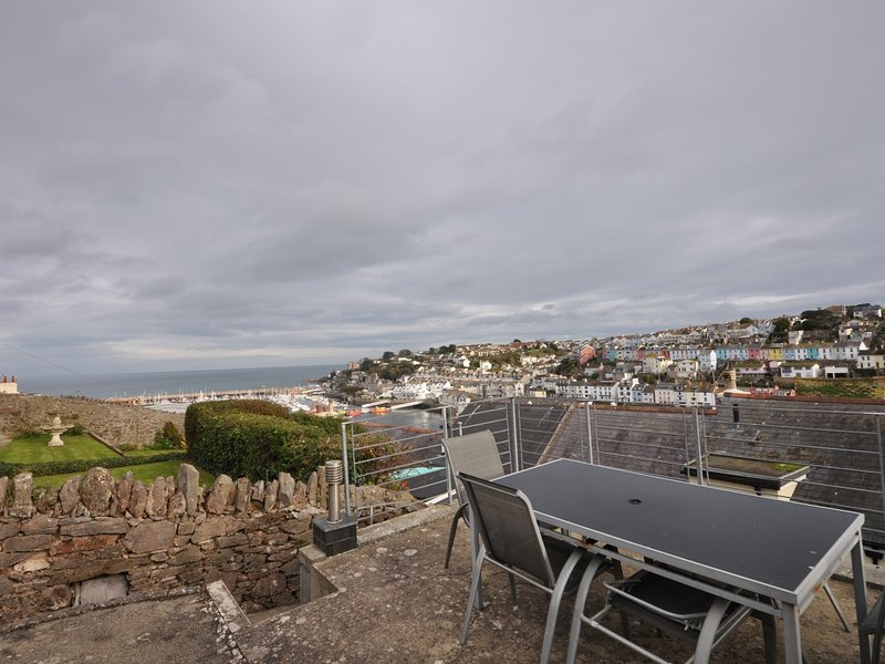 Dine alfresco with the views across Brixham