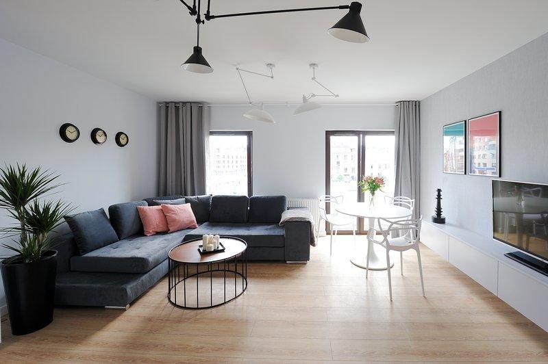 Modern Apartment on Podgórze, location de vacances à Cracovie