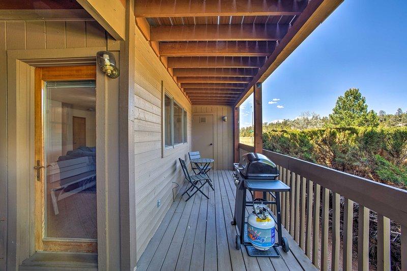 Book your Flagstaff retreat to this 2-bedroom, 2-bath vacation rental condo!