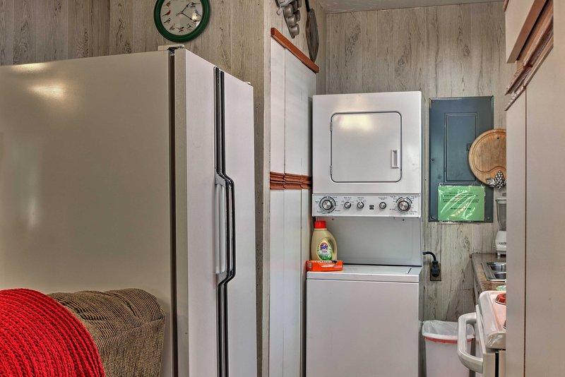 Mantenha outerwear arrumado usando as máquinas de lavar roupa.
