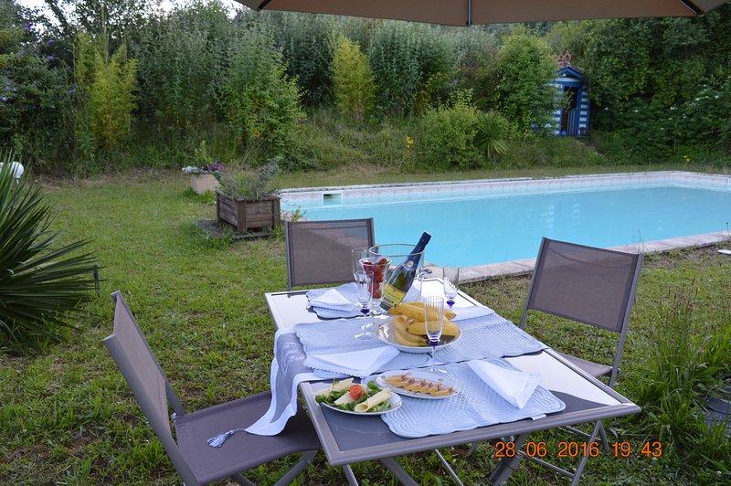 Maison de maître/10 pers./ piscina/spa/WiFi, location de vacances à Condezaygues