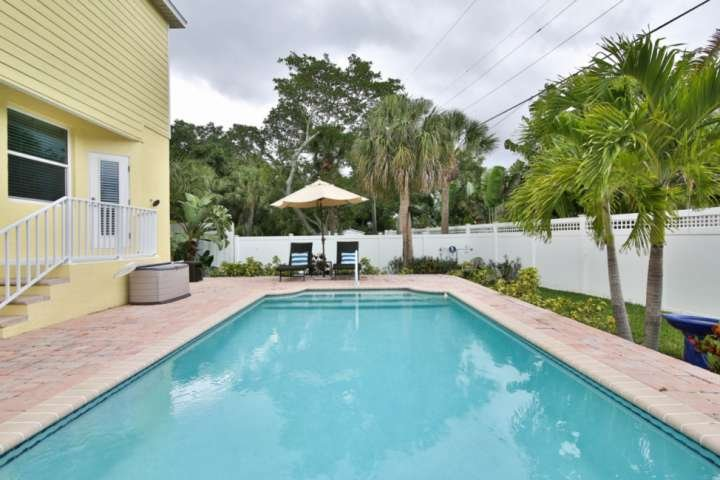 Cool off whenever you like as you have your own private, heated saltwater pool and lounge area.