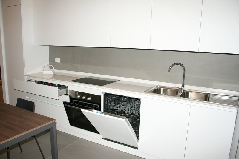 Details of the dishwasher and ovens