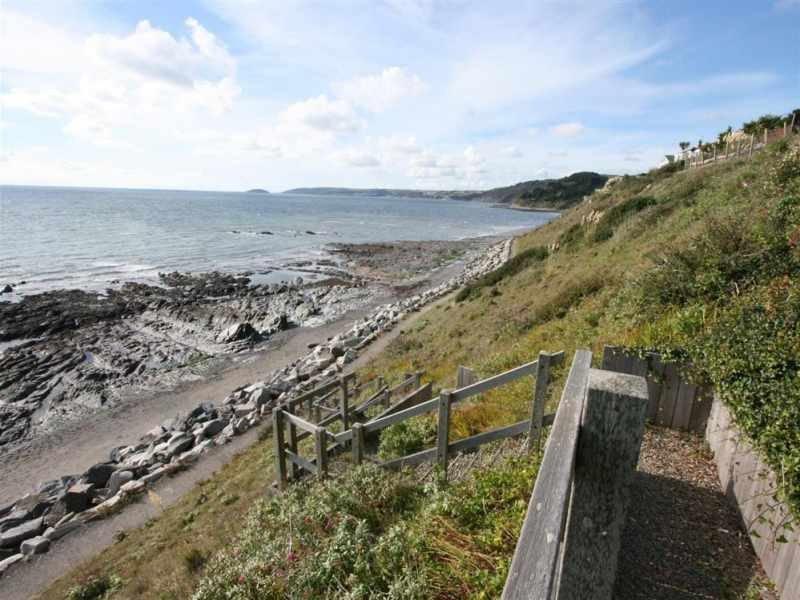 Private steps to beach