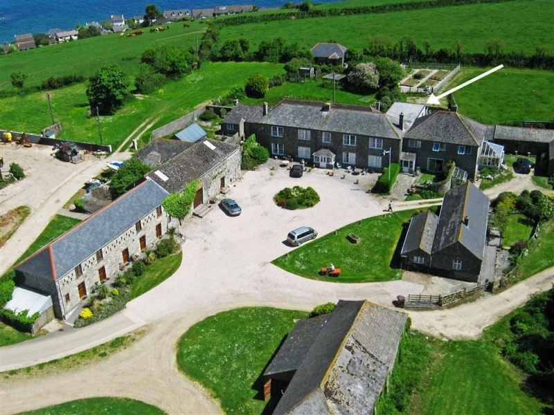 Aerial view of Bodrugan Farm