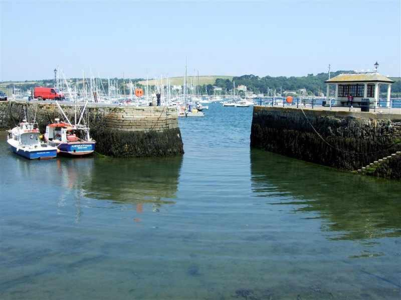 The quay at Falmouth 4 miles away