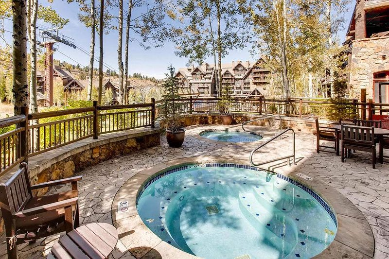 Rejuvenate in your choice outdoor hot tubs after a long day of skiing.