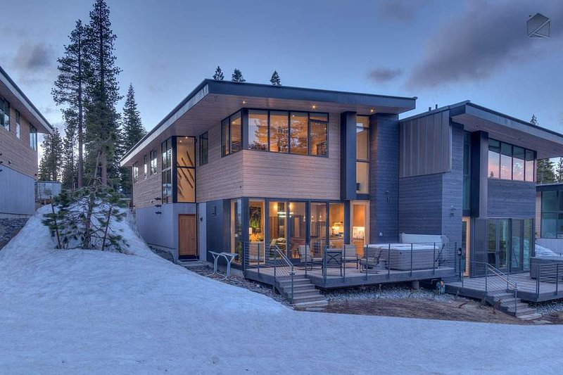 Both sleek and modern, this ski in ski out home will spark your imagination.