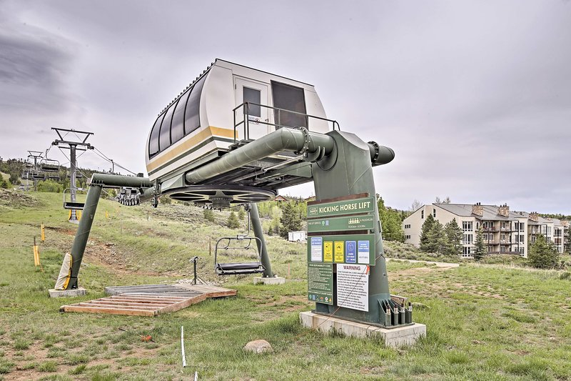 The ski lift is just steps from your door!