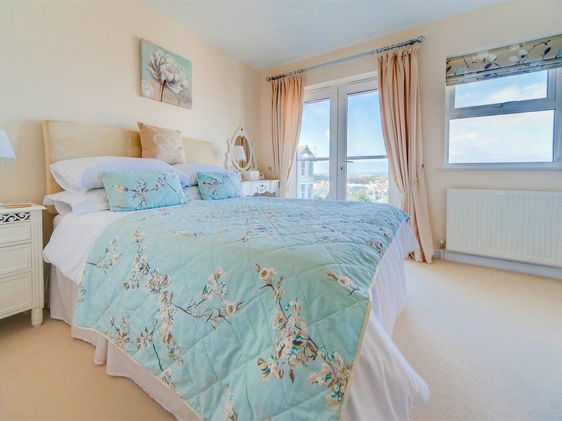 A lovely cosy bedroom with fantastic views over Shanklin to the downs