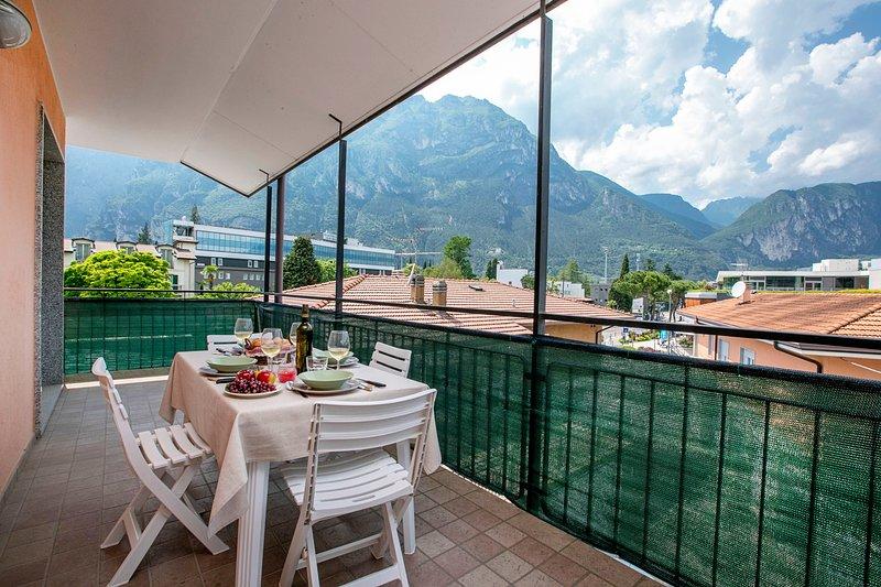 View from the balcony na direção do lago