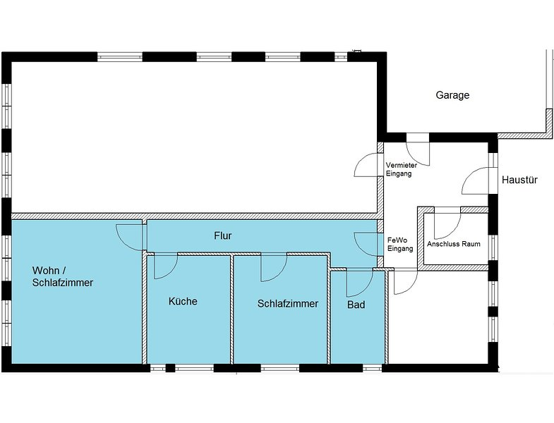 Plan of apartment in the Dragon House.
