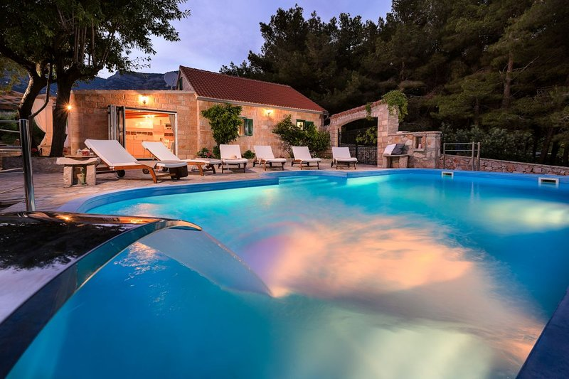 Luxury Villa Zlatni Rat with pool by the sea and beach Zlatni Rat in Bol -  Brac, holiday rental in Bol