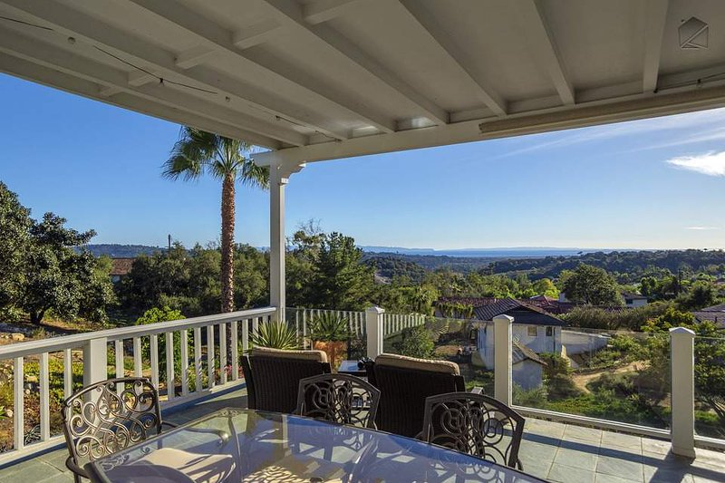 Enjoy the gorgeous scenery while you sit out or enjoy dinner on your upstairs patio.